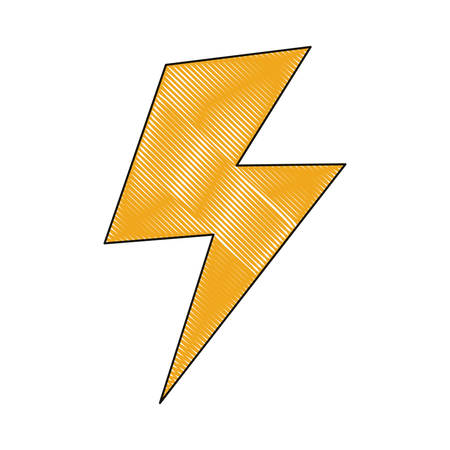 voltage sign: Thunder icon over illustration.