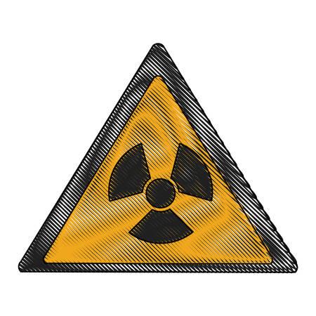 Radioactive sign icon.