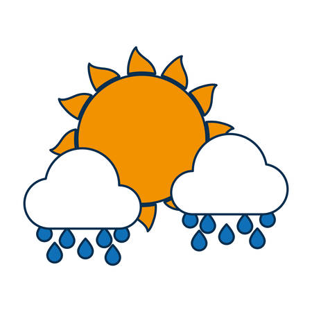 Sun and clouds icon