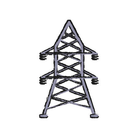 energy tower icon over white background vector illustration