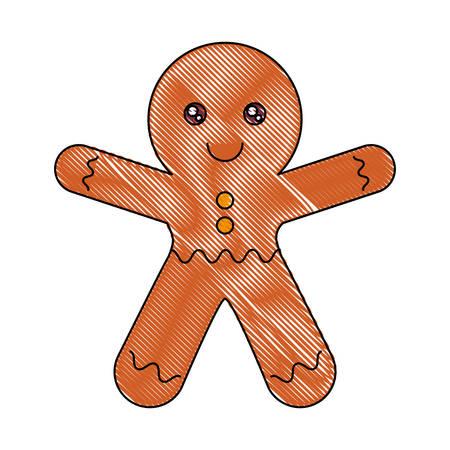 ginger man icon over white background vector illustration Illustration