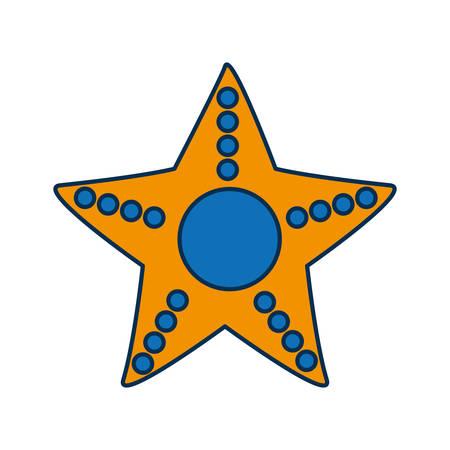 sea star icon over white background vector illustration
