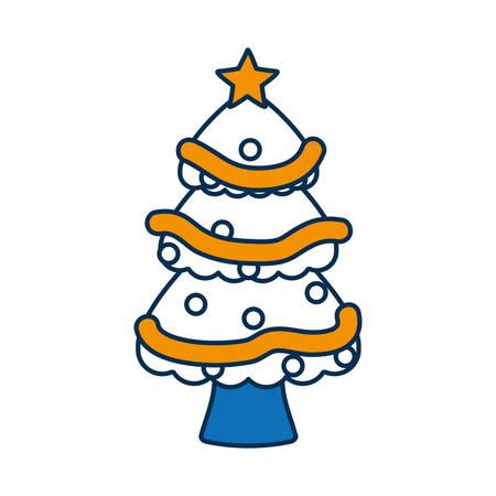 christmas tree icon over white background vector illustration Illustration