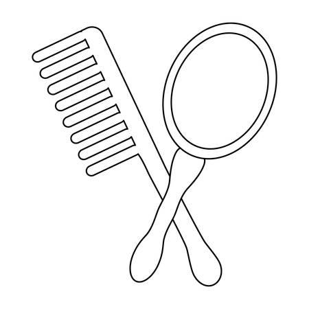 Comb and mirror icon.