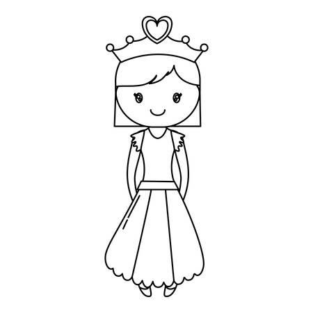 Princess girl icon.