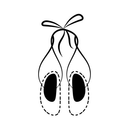 ballet shoes icon over white background vector illustration Illustration