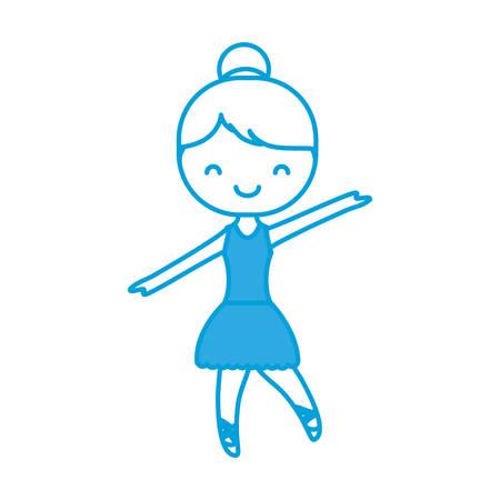 ballet ballerina icon over white background vector illustration