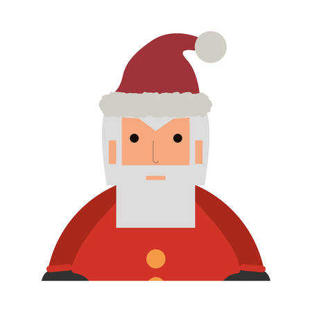 colorful santa claus over white  background  vector illustration