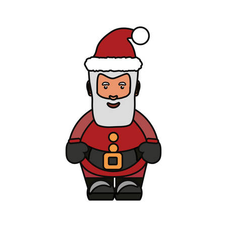 whithe: Colorful santa claus  over whithe background  vector illustration Illustration