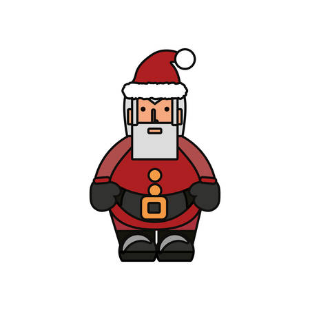 Colorful Santa Claus clip-art design illustration. Illustration