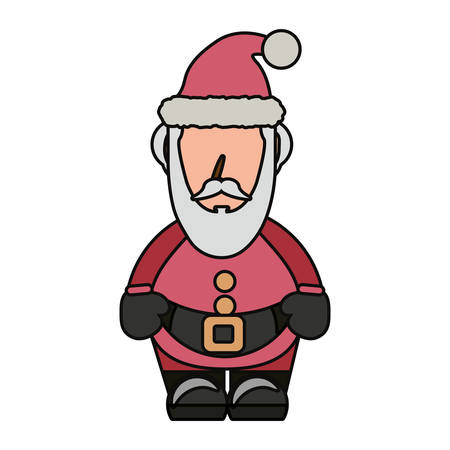 whithe: colorful santa claus  over whithe background  vector illustration