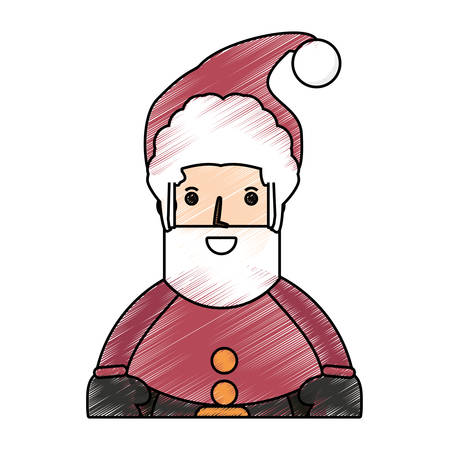 colored santa claus doodle over white background vector illustration stock vector 88550125