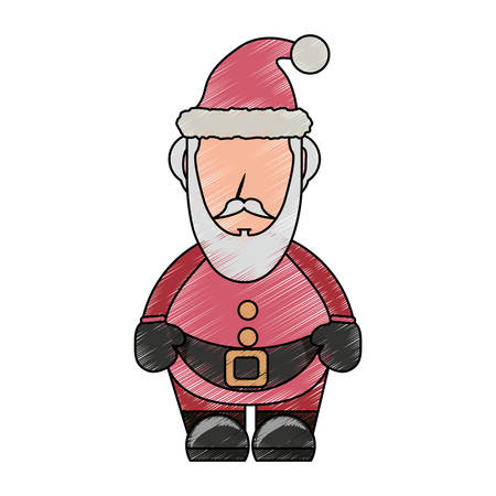 colored santa claus doodle over white background vector illustration stock vector 88549352