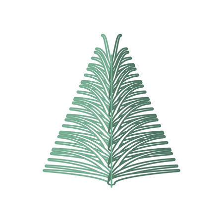 choosing: flat line colored christmas pick over white background  vector illustration