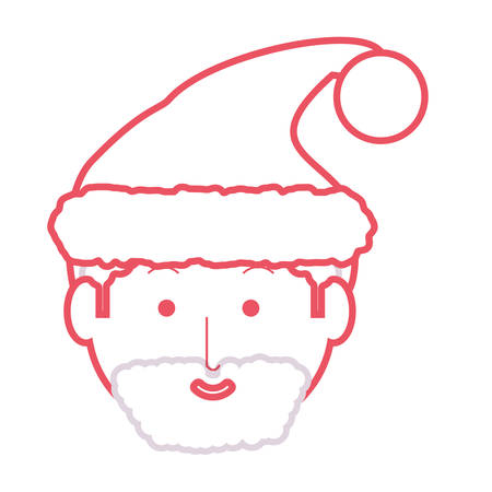 Colored Santa Claus face illustration. Illustration