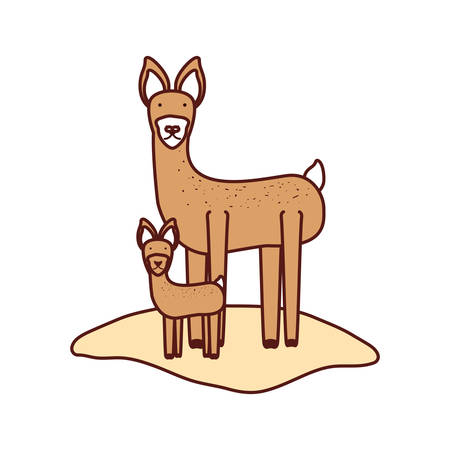 simple life: Cartoon deer icon on white background, vector illustration. Illustration