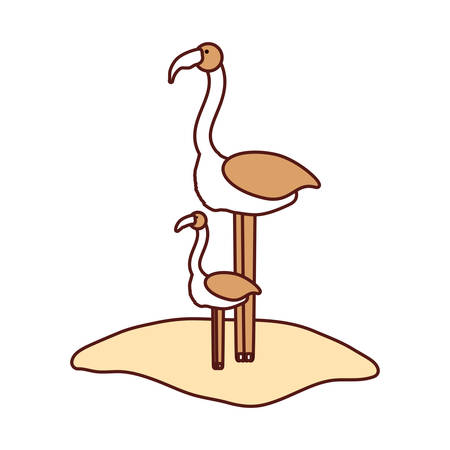 cute: Ostrich icon Illustration