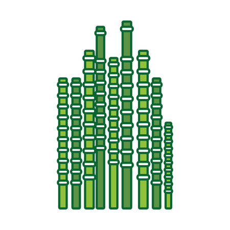 Bamboo sticks icon over white background vector illustration