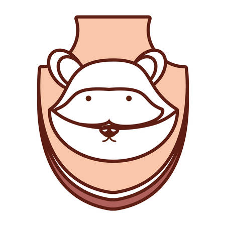 Racoon hunting trophy icon Illustration