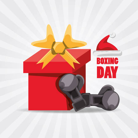 Boxing day design with icon on white background, vector illustration.