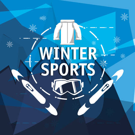 Emblem of winter sports concept