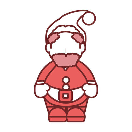 flat line colored santa claus over white background vector illustration stock vector 88720151