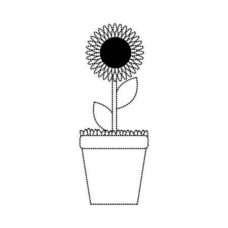 Flowerpot sticker icon Illustration