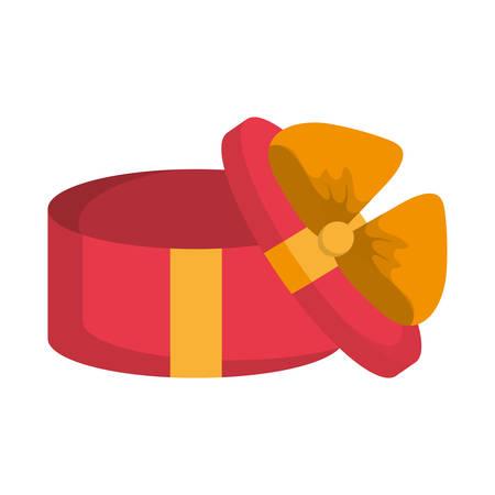 gift box icon over white background vector illustratio