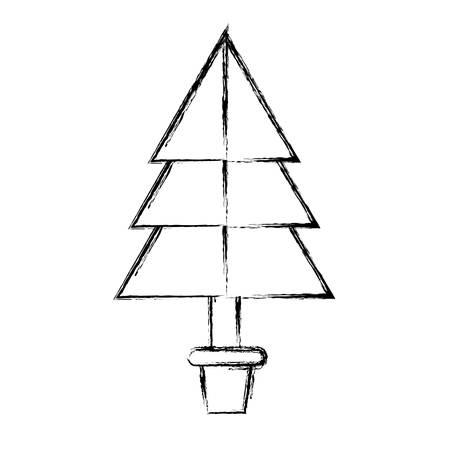 icône de l & # 39 ; arbre de noël sur fond blanc illustration vectorielle