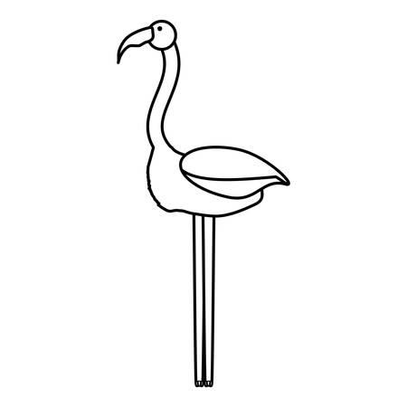 flat line uncolored  flemish   over white background  vector illustration
