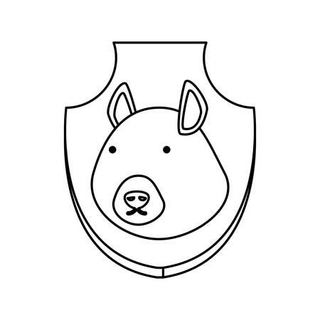 Trofeo Animal De Color De Línea Plana Con Tapir Sobre Ilustración De ...