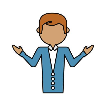 Cartoon teacher man icon over white background vector illustration