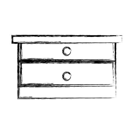 drawers icon over white background vector illustration