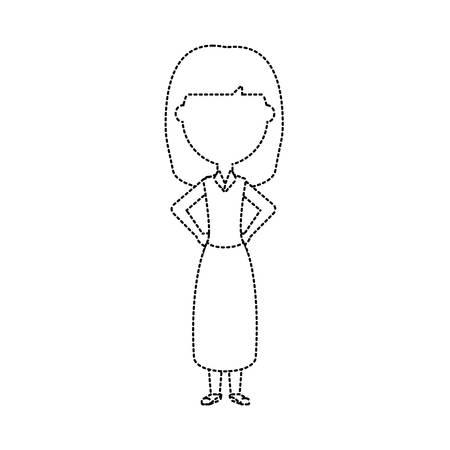 cartoon teacher woman icon over white background vector illustration