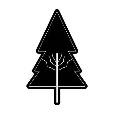 Flat line tree icon