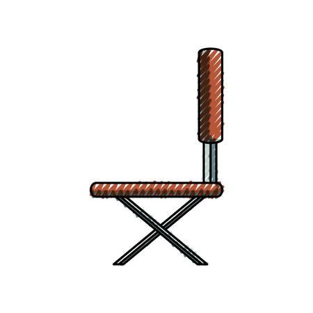 Flat line school chair doodle