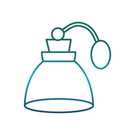 perfume bottle icon over white background vector illustration Illustration
