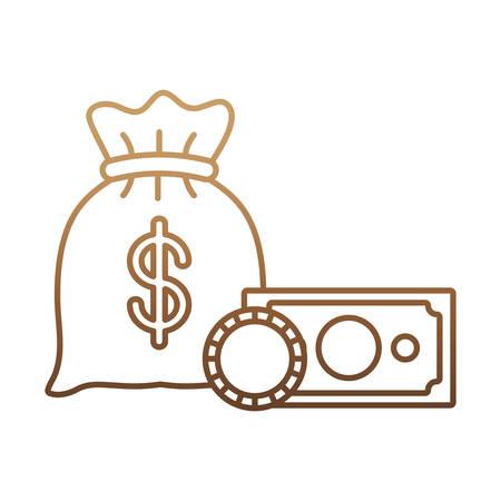 money sack: money sack icon over white background vector illustration Illustration