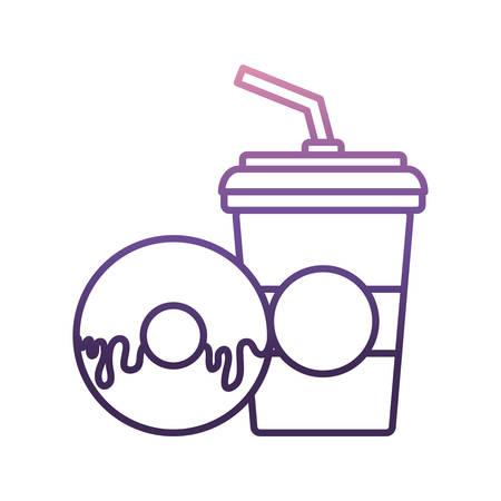 Soda and donut icon.