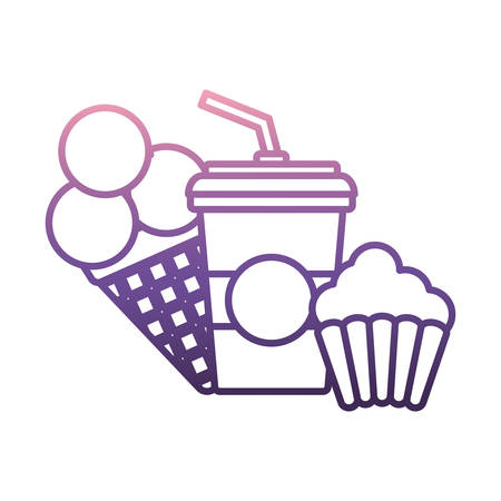 Soda and cup cake icon.