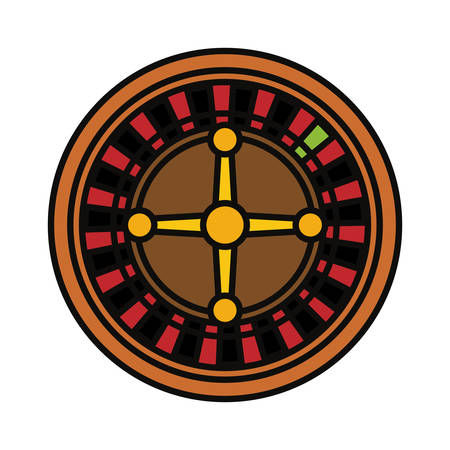 Casino roulette icon. Illustration