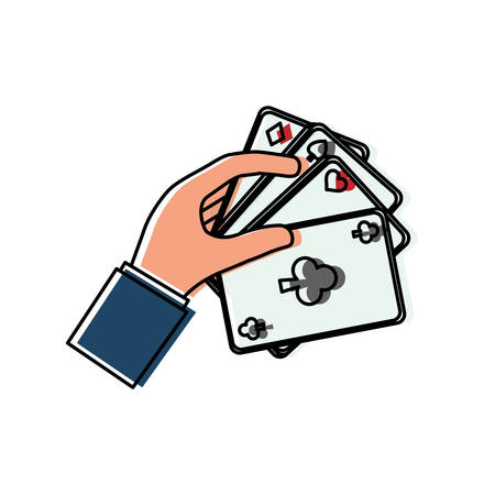 colorful  poker cards over white background  vector illustration