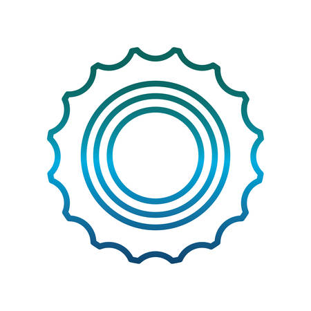 A gear icon over white background vector illustration