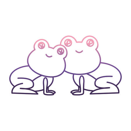 Cute couple of frogs icon