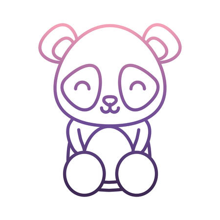 Cute panda bear icon.