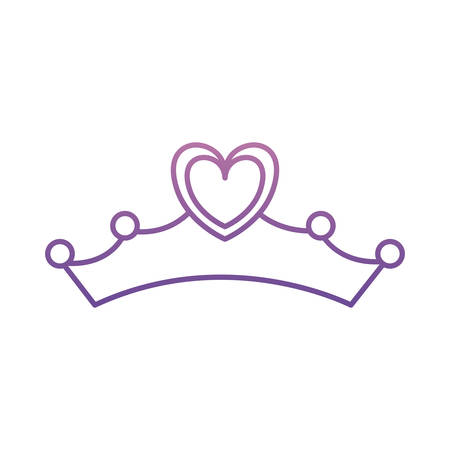 tiara icon over white background vector illustration