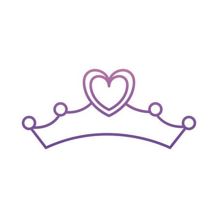 tiara icon over white background vector illustration