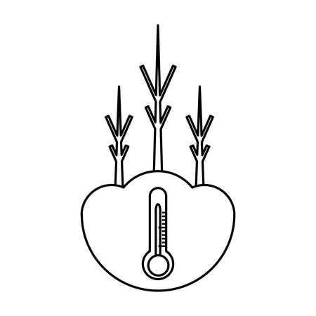 dry trees icon over white background vector illustration Illustration