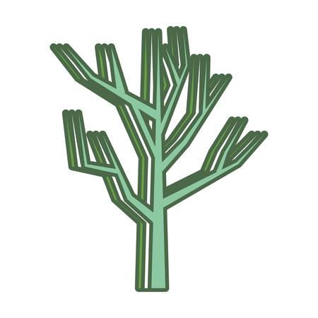 Dry tree icon. Illustration