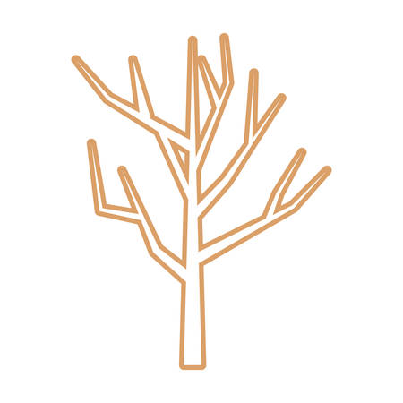dry tree icon over white background vector illustration